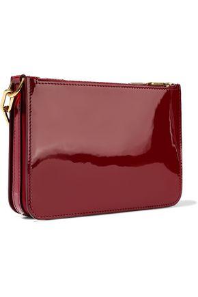 BURBERRY Triple Zip patent-leather shoulder bag
