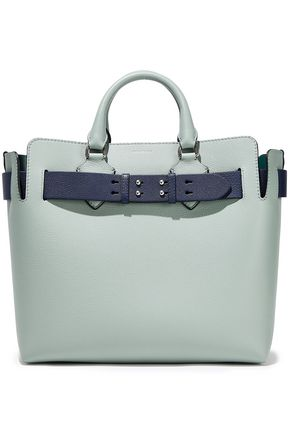 BURBERRY Pebbled-leather tote