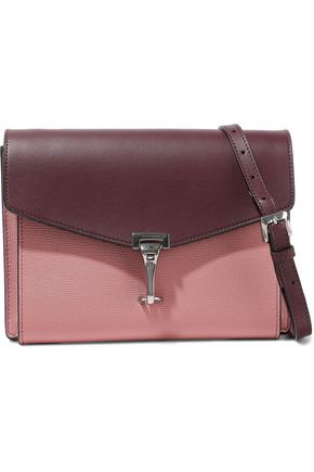 BURBERRY Small two-tone smooth and textured-leather shoulder bag