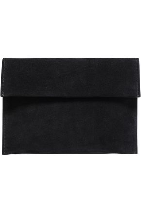 MARNI Suede envelope clutch