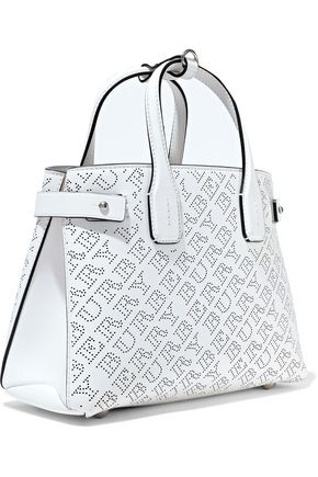 BURBERRY The Banner small perforated leather tote
