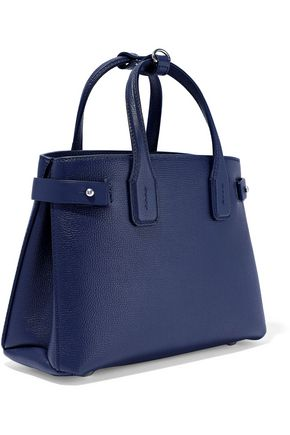 BURBERRY The Banner small textured-leather tote