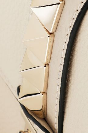 VALENTINO GARAVANI Glam Lock studded textured-leather shoulder bag