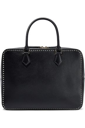 VALENTINO GARAVANI Stud Stitching leather shoulder bag
