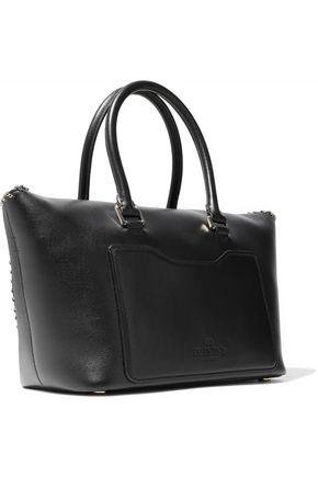 VALENTINO GARAVANI Demilune chain-trimmed leather tote
