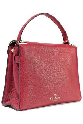 VALENTINO GARAVANI My Rockstud textured-leather tote