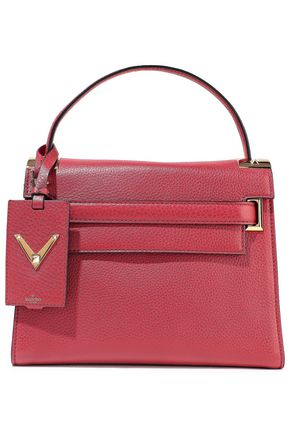 VALENTINO GARAVANI My Rockstud textured-leather tote