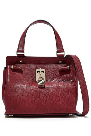 VALENTINO GARAVANI Joylock small textured-leather shoulder bag
