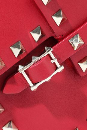 VALENTINO GARAVANI Rockstud buckled leather shoulder bag