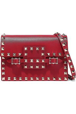 VALENTINO GARAVANI Rockstud buckled leather shoulder bag