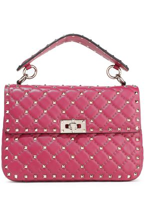 VALENTINO GARAVANI Rockstud Spike quilted leather shoulder bag