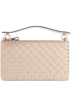 VALENTINO GARAVANI Rockstud Spike quilted leather pouch