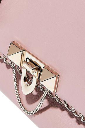 VALENTINO GARAVANI Chain-trimmed leather tote