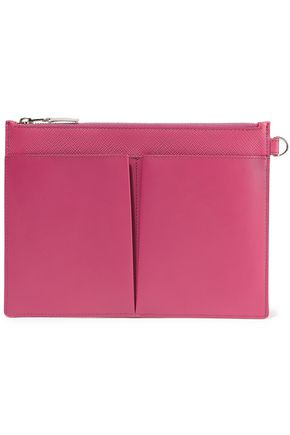 SMYTHSON Panama textured-leather pouch