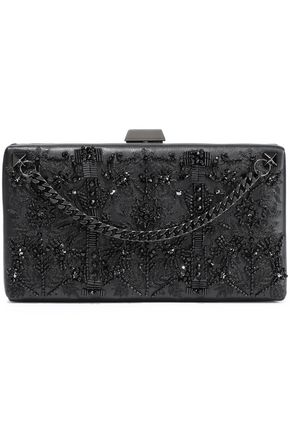 VALENTINO GARAVANI Embellished leather box clutch