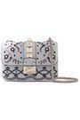 VALENTINO GARAVANI Glam Lock embellished leather shoulder bag
