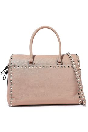 VALENTINO GARAVANI Rockstud pebbled-leather tote