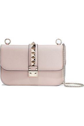 VALENTINO GARAVANI Lock textured-leather shoulder bag