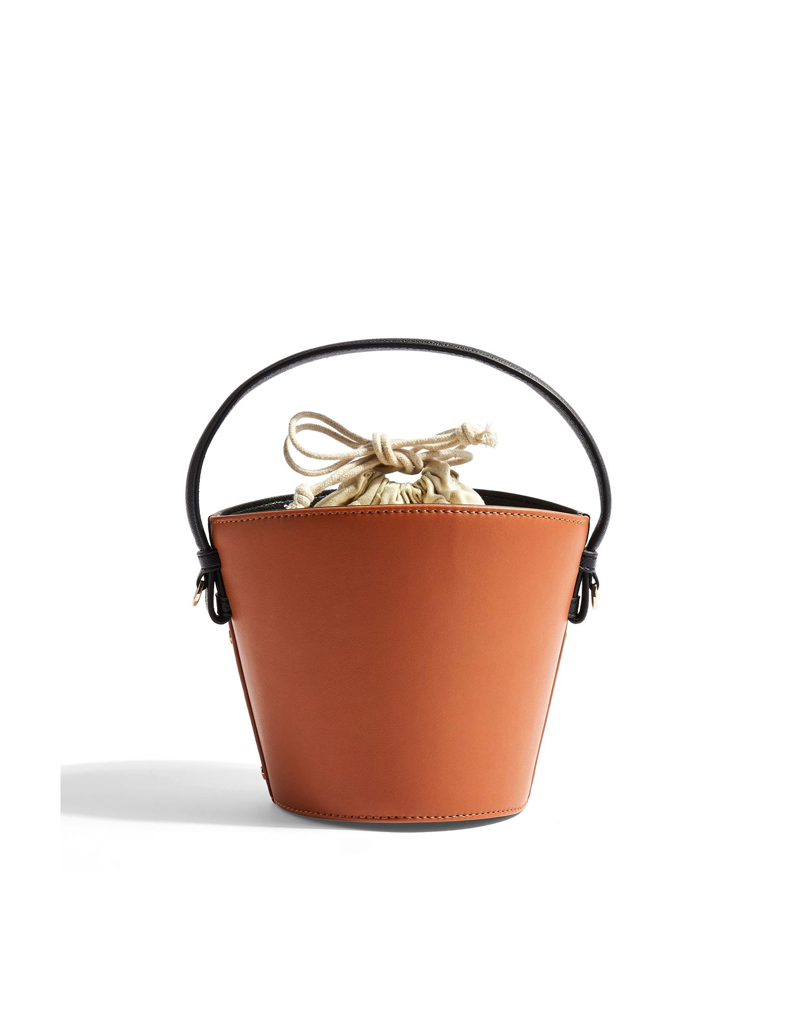 《セール開催中》TOPSHOP レディース ハンドバッグ キャメル ポリウレタン 100% BRANDY BUCKET BAG