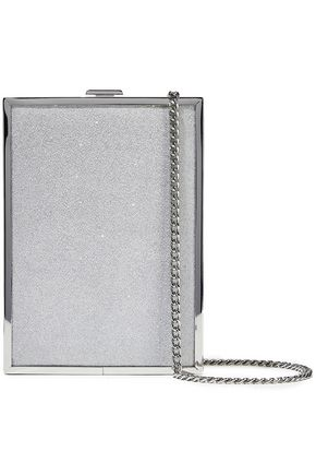 HALSTON HERITAGE Frame glittered acrylic box clutch