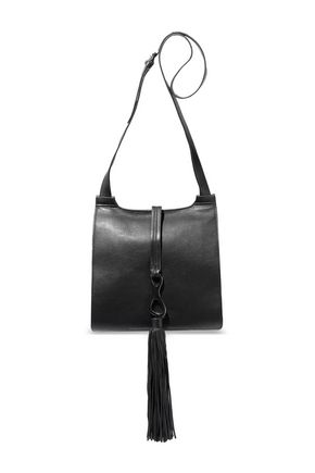 HALSTON HERITAGE Christie tasseled pebbled-leather shoulder bag