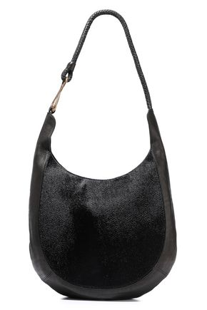 HALSTON HERITAGE Brooke calf hair and textured-leather shoulder bag