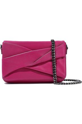 HALSTON HERITAGE Grace small pleated leather shoulder bag
