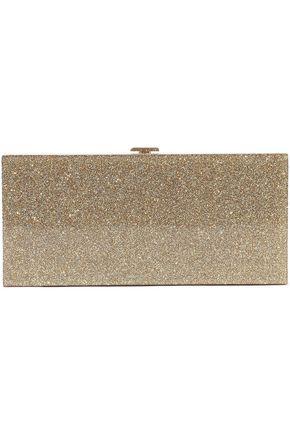 HALSTON HERITAGE Glittered acrylic box clutch