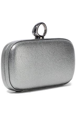 HALSTON HERITAGE Elsa Bean metallic pebbled-leather clutch