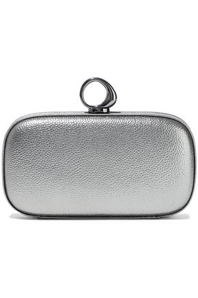 HALSTON HERITAGE Elsa Bean metallic pebbled-leather clutch