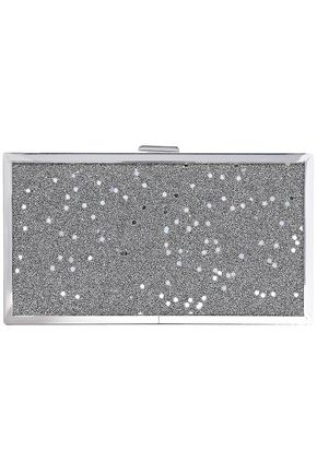 HALSTON HERITAGE Frame sequin-embellished glittered acrylic box clutch