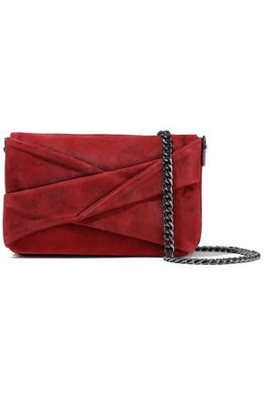 HALSTON HERITAGE Grace small pleated suede shoulder bag