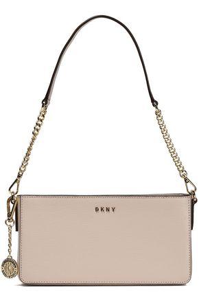DKNY Chain-trimmed textured-leather shoulder bag