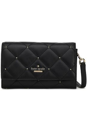 KATE SPADE New York Studded quilted leather clutch