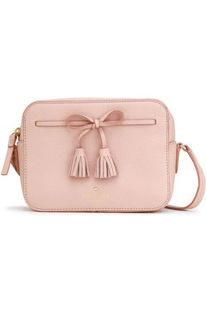 KATE SPADE New York Hayes Street bow-detailed pebbled-leather shoulder bag
