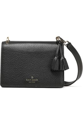 KATE SPADE New York Tasseled textured-leather shoulder bag