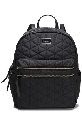 KATE SPADE New York Faux leather-trimmed quilted shell backpack