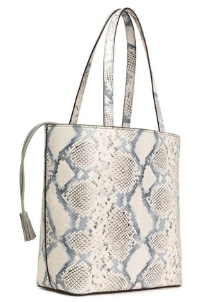 KATE SPADE New York Hattie Hayes Street snake-effect leather tote