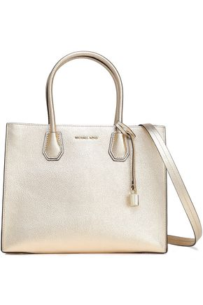 MICHAEL MICHAEL KORS Metallic pebbled-leather shoulder bag
