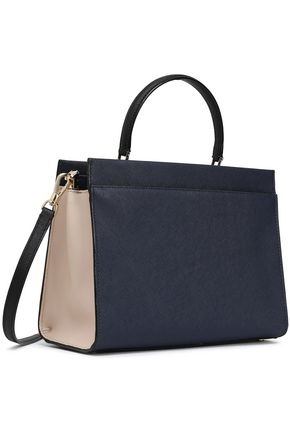 KATE SPADE New York Two-tone textured-leather shoulder bag