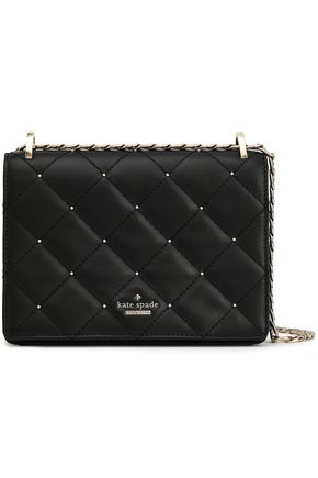 KATE SPADE New York Studded quilted leather shoulder bag