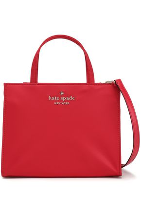KATE SPADE New York Leather-trimmed shell shoulder bag