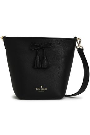 KATE SPADE New York Bow-embellished pebbled-leather shoulder bag