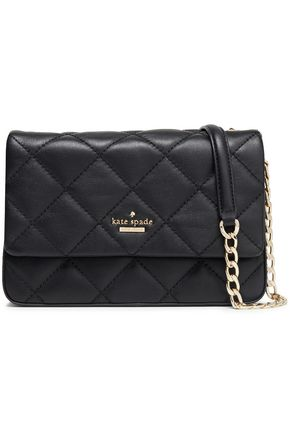 KATE SPADE New York Chain-trimmed quilted leather shoulder bag