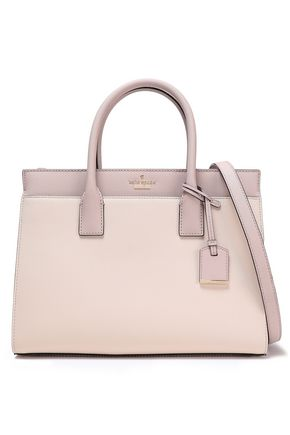 KATE SPADE New York Color-block textured-leather shoulder bag