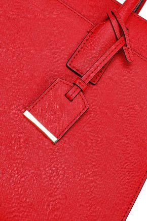 KATE SPADE New York Color-block textured-leather shoulder bag