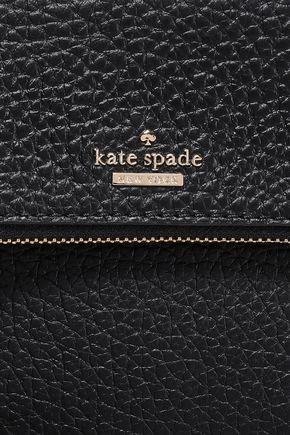 KATE SPADE New York Zip-detailed pebbled-leather shoulder bag