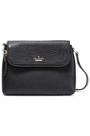 KATE SPADE New York Zip-detailed pebbled-leather shoulder bag