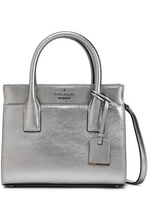 KATE SPADE New York Metallic textured-leather shoulder bag