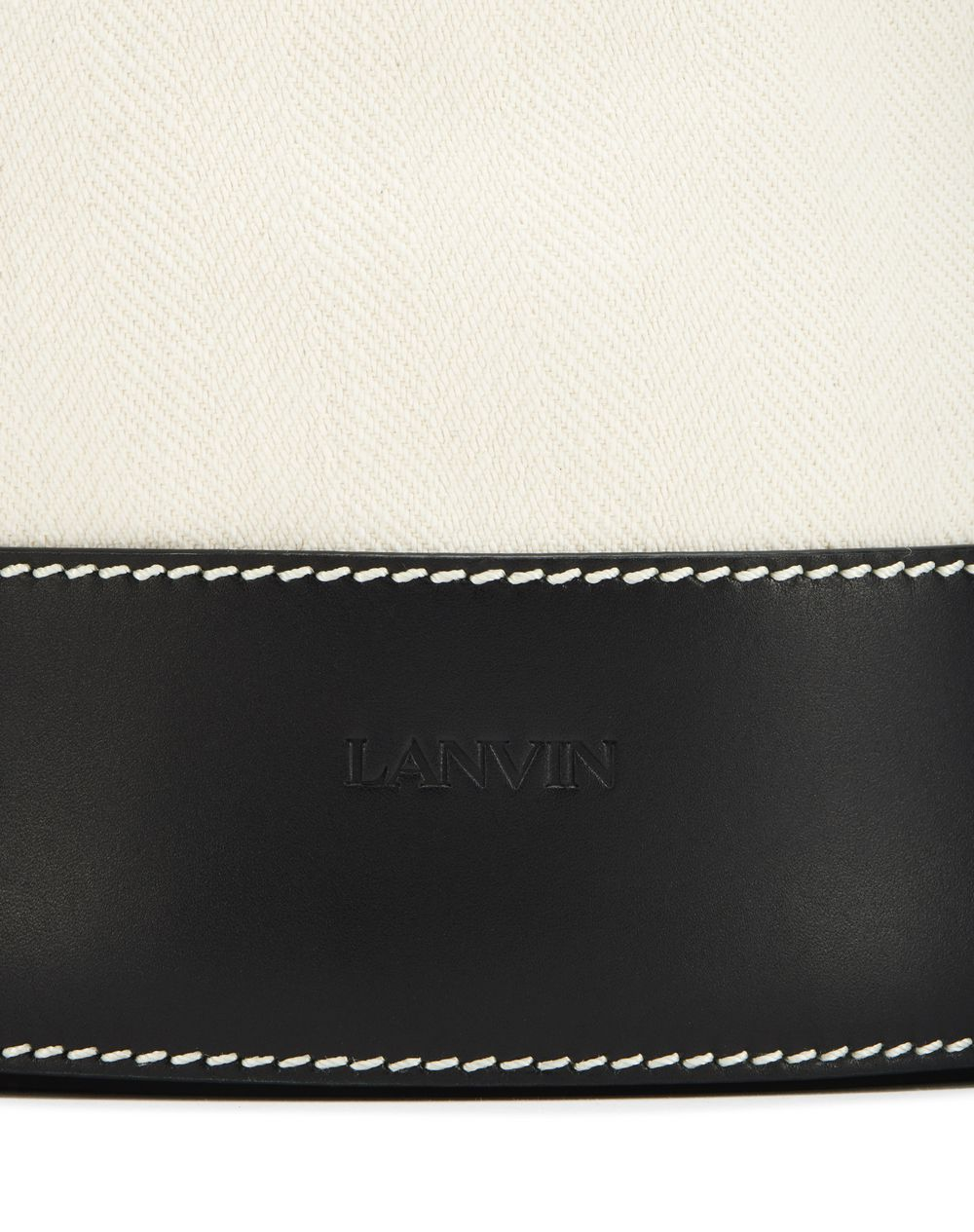 SMALL DUAL-MATERIAL NEIL BAG - Lanvin
